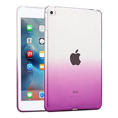 Silikon Hülle Ultra Dünn Schutzhülle Durchsichtig Farbverlauf für Apple iPad Mini 4 Violett