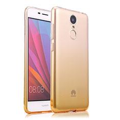 Silikon Hülle Ultra Dünn Schutzhülle Durchsichtig Farbverlauf für Huawei Enjoy 6 Gelb