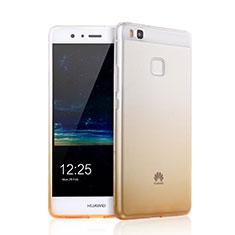 Silikon Hülle Ultra Dünn Schutzhülle Durchsichtig Farbverlauf für Huawei G9 Lite Gelb