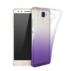 Silikon Hülle Ultra Dünn Schutzhülle Durchsichtig Farbverlauf für Huawei GR5 Mini Violett