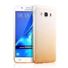 Silikon Hülle Ultra Dünn Schutzhülle Durchsichtig Farbverlauf für Samsung Galaxy J5 Duos (2016) Gelb