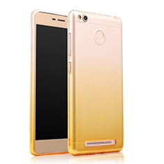 Silikon Hülle Ultra Dünn Schutzhülle Durchsichtig Farbverlauf für Xiaomi Redmi 3S Gelb