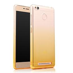 Silikon Hülle Ultra Dünn Schutzhülle Durchsichtig Farbverlauf für Xiaomi Redmi 3X Gelb