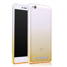 Silikon Hülle Ultra Dünn Schutzhülle Durchsichtig Farbverlauf für Xiaomi Redmi 4A Gelb