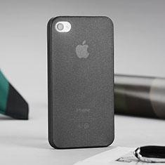 Silikon Hülle Ultra Dünn Schutzhülle Durchsichtig Matt für Apple iPhone 4 Grau