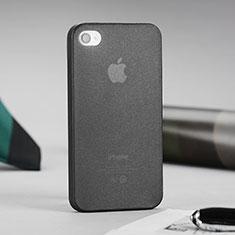 Silikon Hülle Ultra Dünn Schutzhülle Durchsichtig Matt für Apple iPhone 4S Grau