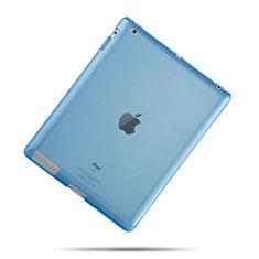 Silikon Hülle Ultra Dünn Schutzhülle Durchsichtig Transparent für Apple iPad 3 Hellblau