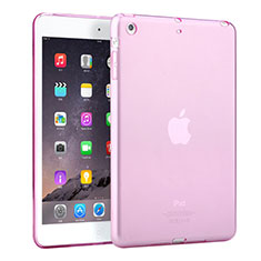 Silikon Hülle Ultra Dünn Schutzhülle Durchsichtig Transparent für Apple iPad Mini 2 Rosa