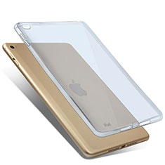 Silikon Hülle Ultra Dünn Schutzhülle Durchsichtig Transparent für Apple iPad Mini 4 Blau