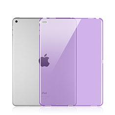 Silikon Hülle Ultra Dünn Schutzhülle Durchsichtig Transparent für Apple iPad Pro 12.9 Violett