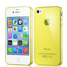 Silikon Hülle Ultra Dünn Schutzhülle Durchsichtig Transparent für Apple iPhone 4 Gelb