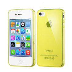 Silikon Hülle Ultra Dünn Schutzhülle Durchsichtig Transparent für Apple iPhone 4S Gelb