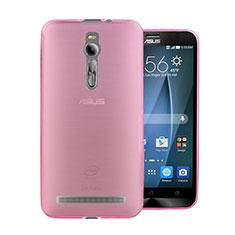 Silikon Hülle Ultra Dünn Schutzhülle Durchsichtig Transparent für Asus Zenfone 2 ZE551ML ZE550ML Rosa