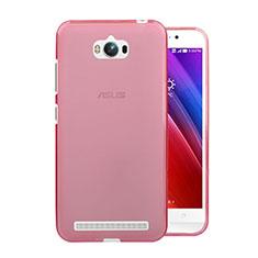 Silikon Hülle Ultra Dünn Schutzhülle Durchsichtig Transparent für Asus Zenfone Max ZC550KL Rosa