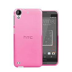 Silikon Hülle Ultra Dünn Schutzhülle Durchsichtig Transparent für HTC Desire 630 Rosa