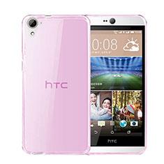 Silikon Hülle Ultra Dünn Schutzhülle Durchsichtig Transparent für HTC Desire 826 826T 826W Rosa