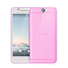 Silikon Hülle Ultra Dünn Schutzhülle Durchsichtig Transparent für HTC One A9 Rosa