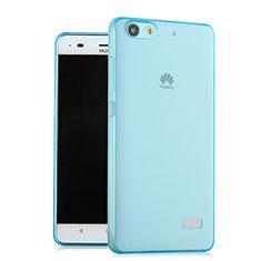 Silikon Hülle Ultra Dünn Schutzhülle Durchsichtig Transparent für Huawei G Play Mini Blau