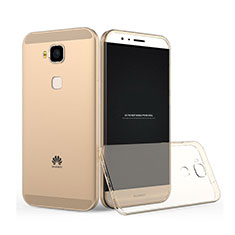 Silikon Hülle Ultra Dünn Schutzhülle Durchsichtig Transparent für Huawei G7 Plus Gold