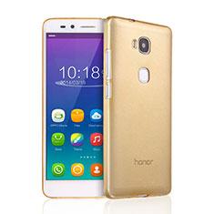 Silikon Hülle Ultra Dünn Schutzhülle Durchsichtig Transparent für Huawei GR5 Gold