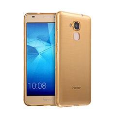 Silikon Hülle Ultra Dünn Schutzhülle Durchsichtig Transparent für Huawei GR5 Mini Gold