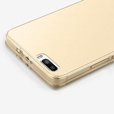 Silikon Hülle Ultra Dünn Schutzhülle Durchsichtig Transparent für Huawei Honor 6 Plus Gold