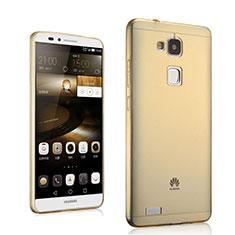 Silikon Hülle Ultra Dünn Schutzhülle Durchsichtig Transparent für Huawei Mate 7 Gold