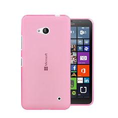 Silikon Hülle Ultra Dünn Schutzhülle Durchsichtig Transparent für Microsoft Lumia 640 Rosa