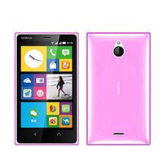 Silikon Hülle Ultra Dünn Schutzhülle Durchsichtig Transparent für Nokia X2 Dual Sim Rosa
