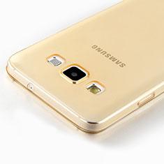 Silikon Hülle Ultra Dünn Schutzhülle Durchsichtig Transparent für Samsung Galaxy A7 SM-A700 Gold