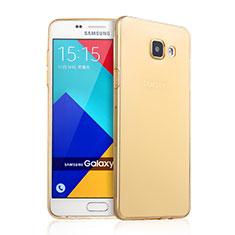 Silikon Hülle Ultra Dünn Schutzhülle Durchsichtig Transparent für Samsung Galaxy A9 Pro (2016) SM-A9100 Gold