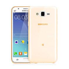 Silikon Hülle Ultra Dünn Schutzhülle Durchsichtig Transparent für Samsung Galaxy J3 Gold