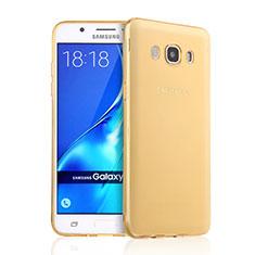 Silikon Hülle Ultra Dünn Schutzhülle Durchsichtig Transparent für Samsung Galaxy J5 Duos (2016) Gold