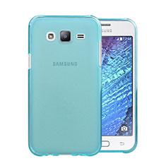 Silikon Hülle Ultra Dünn Schutzhülle Durchsichtig Transparent für Samsung Galaxy J5 SM-J500F Hellblau
