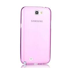 Silikon Hülle Ultra Dünn Schutzhülle Durchsichtig Transparent für Samsung Galaxy Note 2 N7100 N7105 Rosa