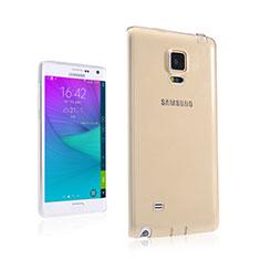 Silikon Hülle Ultra Dünn Schutzhülle Durchsichtig Transparent für Samsung Galaxy Note Edge SM-N915F Gold