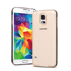 Silikon Hülle Ultra Dünn Schutzhülle Durchsichtig Transparent für Samsung Galaxy S5 G900F G903F Gold