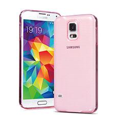 Silikon Hülle Ultra Dünn Schutzhülle Durchsichtig Transparent für Samsung Galaxy S5 G900F G903F Rosa