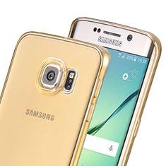 Silikon Hülle Ultra Dünn Schutzhülle Durchsichtig Transparent für Samsung Galaxy S6 Edge SM-G925 Gold