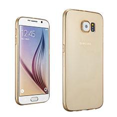 Silikon Hülle Ultra Dünn Schutzhülle Durchsichtig Transparent für Samsung Galaxy S6 SM-G920 Gold