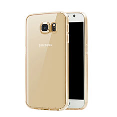 Silikon Hülle Ultra Dünn Schutzhülle Durchsichtig Transparent für Samsung Galaxy S7 G930F G930FD Gold