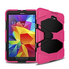 Silikon Hülle und Kunststoff Schutzhülle mit Ständer für Samsung Galaxy Tab A6 10.1 SM-T580 SM-T585 Pink