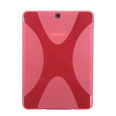 Silikon Hülle X-Line Schutzhülle Durchsichtig Transparent für Samsung Galaxy Tab S2 8.0 SM-T710 SM-T715 Rot