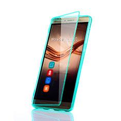 Silikon Schutzhülle Flip Tasche Durchsichtig Transparent für Huawei Honor V8 Max Grün