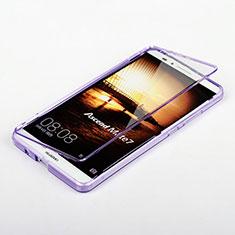 Silikon Schutzhülle Flip Tasche Durchsichtig Transparent für Huawei Mate 7 Violett