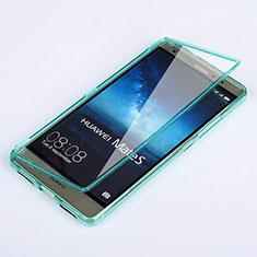 Silikon Schutzhülle Flip Tasche Durchsichtig Transparent für Huawei Mate S Hellblau