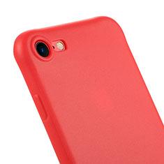Silikon Schutzhülle Gummi Tasche C01 für Apple iPhone 7 Rot