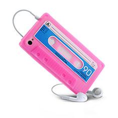 Silikon Schutzhülle Gummi Tasche Cassette für Apple iPhone 4 Rosa