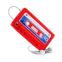 Silikon Schutzhülle Gummi Tasche Cassette für Apple iPhone 4 Rot