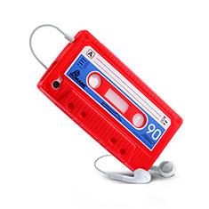 Silikon Schutzhülle Gummi Tasche Cassette für Apple iPhone 4S Rot